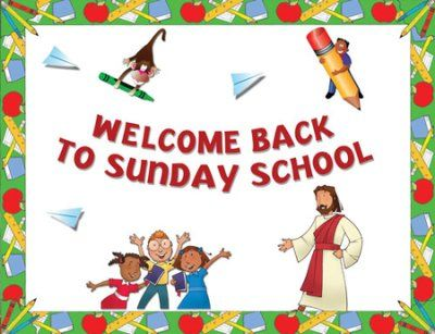 Instant Bulletin Board - Welcome Back to Sunday School - PDF Download  [Download]