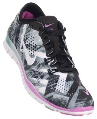 b830ecbaca16 PS48 Nike Women s Free 5.0 TR Fit 4 PRT Training Shoes - Women s Nike Free  Black   White-Wolf Grey-Red Violet