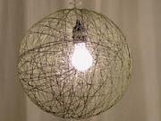 Lampa zo šnurky - ako si vyrobiť  šnúrkovú lampu