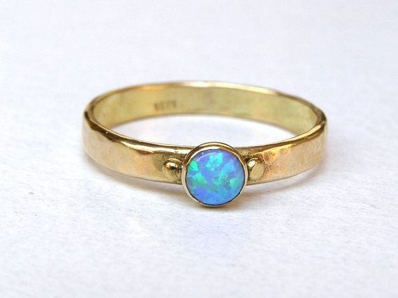opal gold cluster from image yellow gemstones ring natural