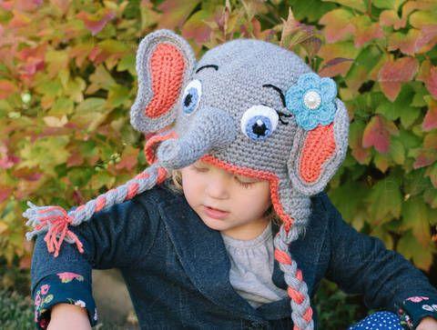 Elefanten-Mütze // Häkelanleitung bei Makerist | Babykleidung ...