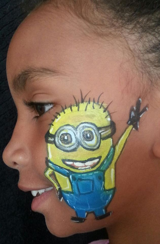 face painting minion face and body painting designs pinterest face paintings. Black Bedroom Furniture Sets. Home Design Ideas