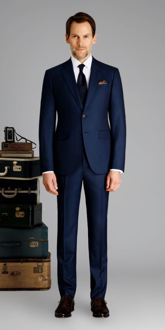 luxury fashion new specials shop for Marine Blue Birdseye Custom Suit | mother of groom in 2019 ...