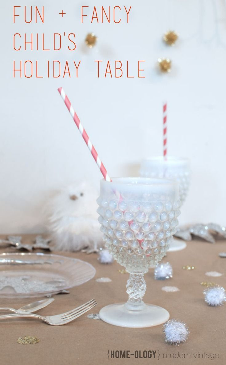 Ideas to Love: A Child's Holiday Table | {Home-ology} modern vintage