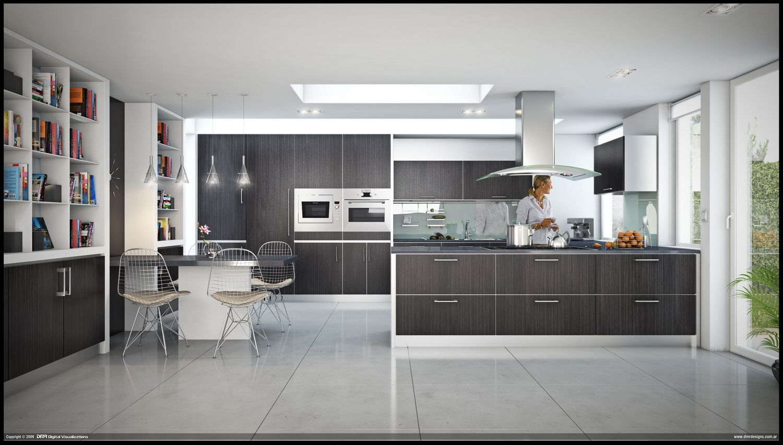 Ideas Interior Design   Contemporary kitchen design, Kitchen ...