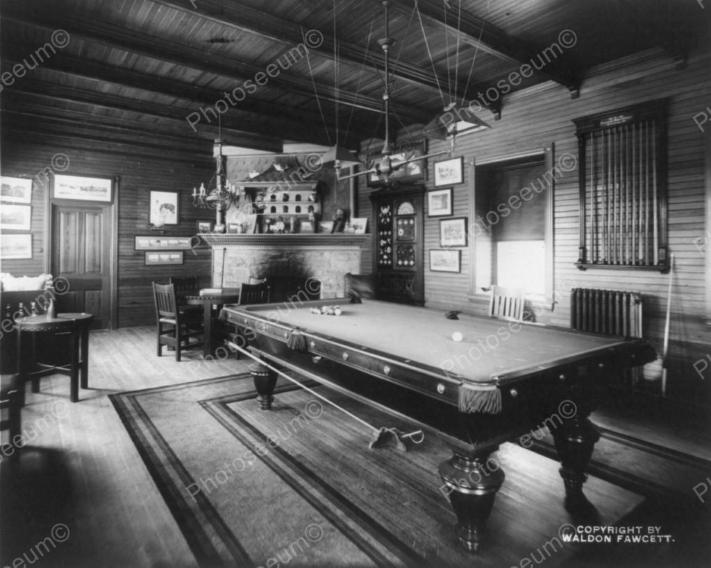 Pool Room Vintage Billard 8x10 Reprint Of Old Photo Ebay Antique Billiards Western Rooms Pool Table Repair