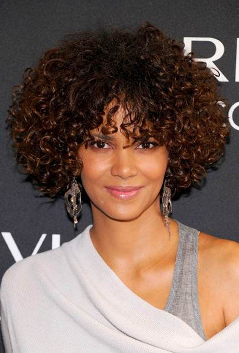 25 Short Curly Hair With Bangs Curly Hair Styles Short Curly Hairstyles For Women Short Curly Hair