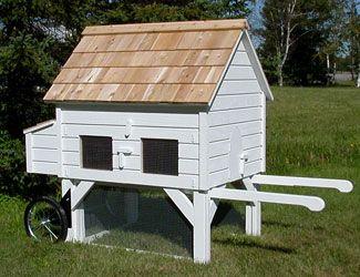 I Like The Idea Of A Coop On Wheels Fancy Chicken Coop Chicken Coop Chickens Backyard