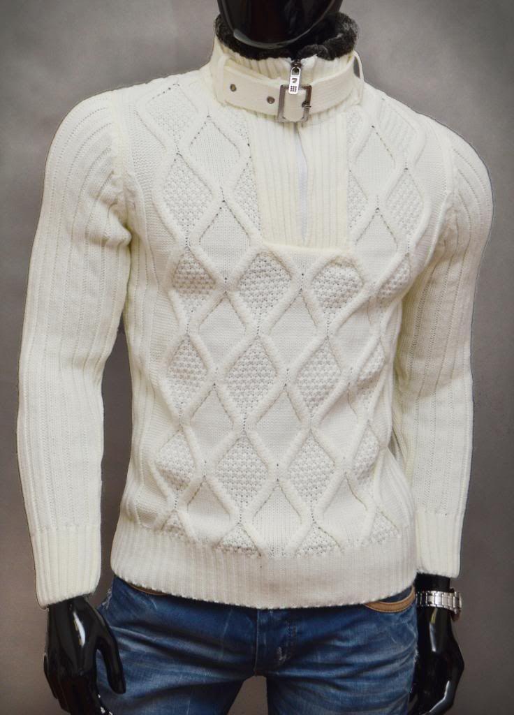 -sweter męski, golf -bardzo ciepły i gruby -najwyższa jakość wykonania  -ocieplana, zapinana stójka -materiał 70% wełna, 30% akryl -na tej aukcji  kupujesz ... 32b4c6866c