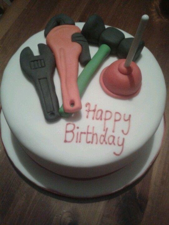Plumbers tools cake Wedding cakes Pinterest Tool cake Cake