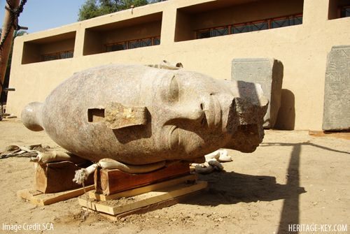 Colossal Head from Statue of King Tut's Granddad Found at Amenhotep III Funerary Temple Site