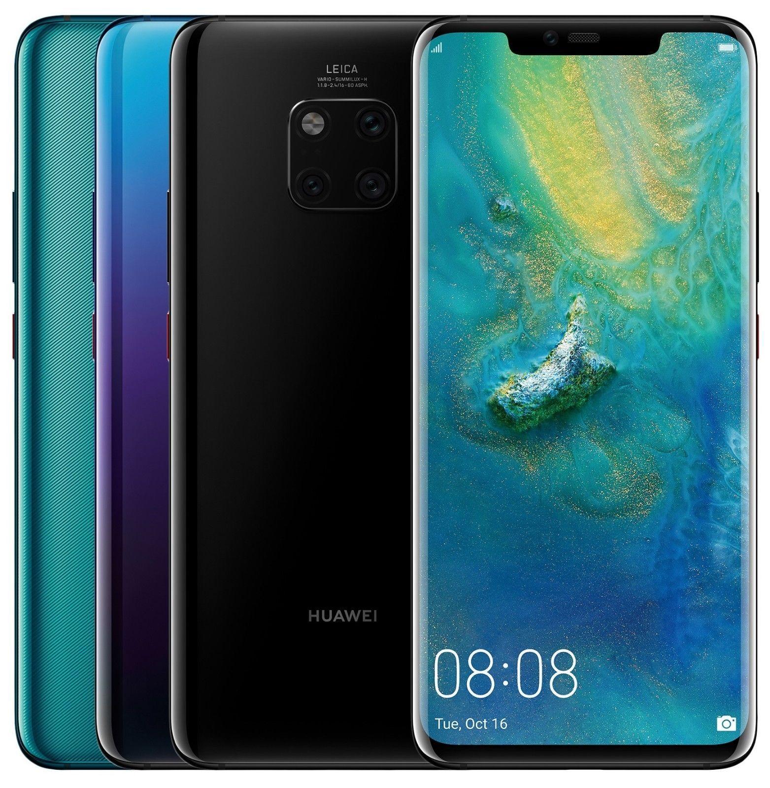Huawei Mate 20 Pro Lya L29 128gb Factory Unlocked 6 39 Black Green Twilight Prepaid Phones T Mobile Phones Boost Mobile