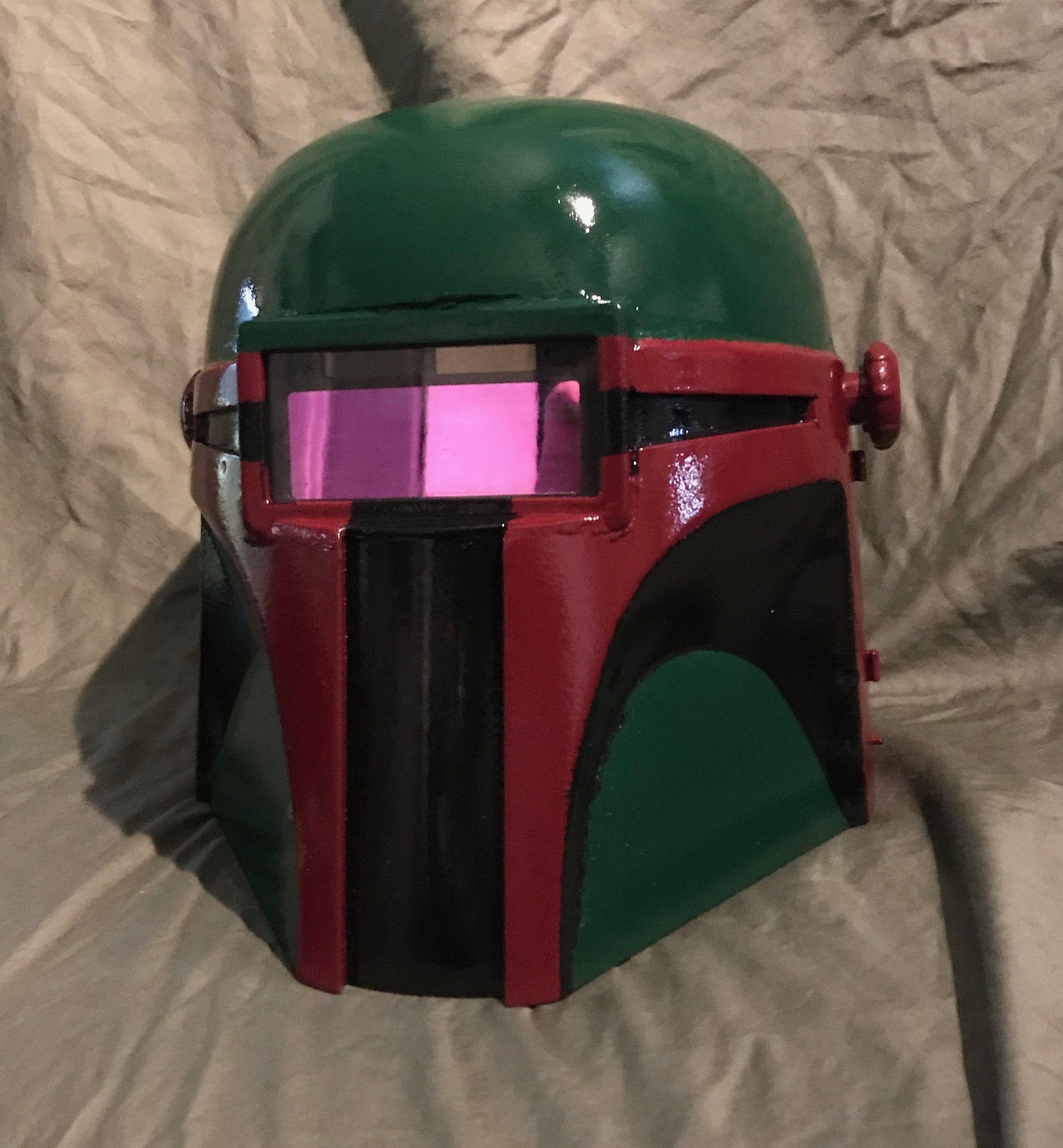 Homemade Boba Fett - Star Wars welding helmet | Boba fett | Pinterest