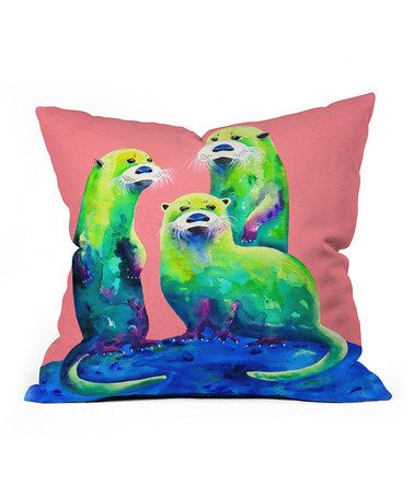 Another great find on #zulily! Clara Nilles Margarita Otters Throw Pillow #zulilyfinds