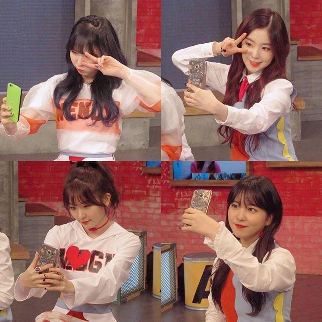 Red Velvet 셀카찍는 중  . How each of the members take a selfie #REDVELVET #ROOKIE #arirang_ASC