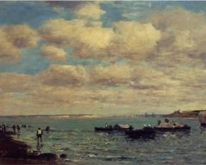 Camaret, Fishermen and Boats - Eugene Boudin