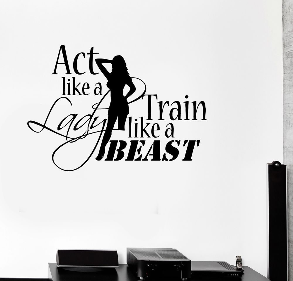 Details about Wall Decal Healthy Lifestyle Gym Sport