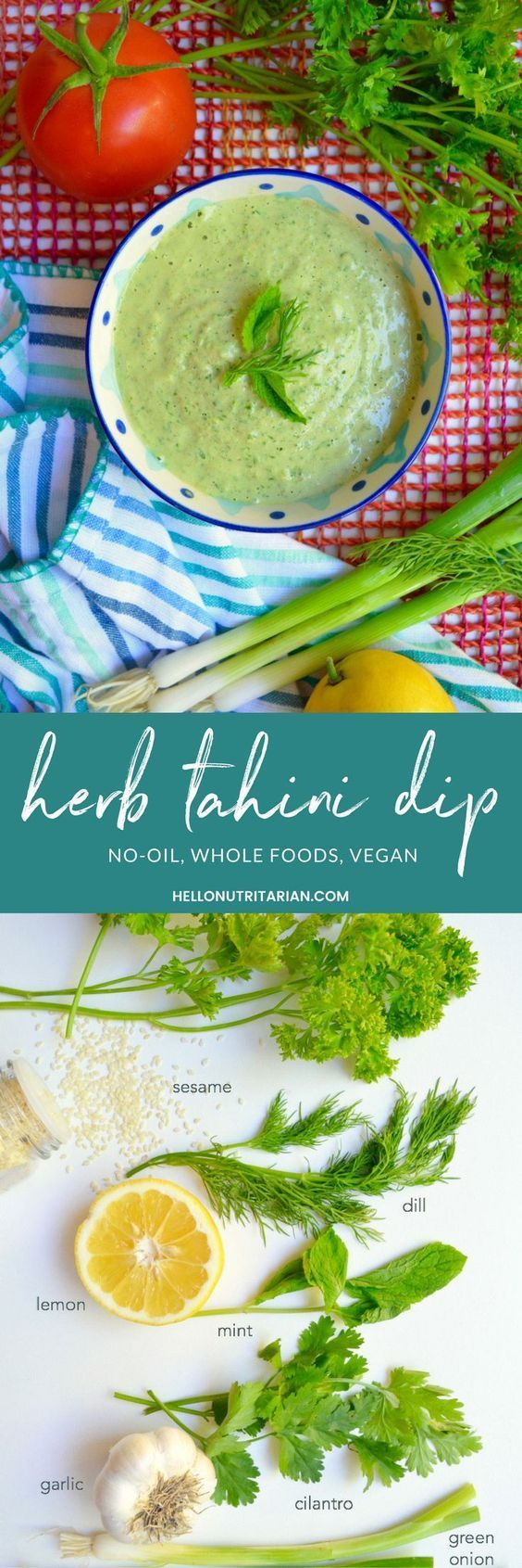 Herb Tahini Dip Recipe It Makes The Most Amazing Oil Free
