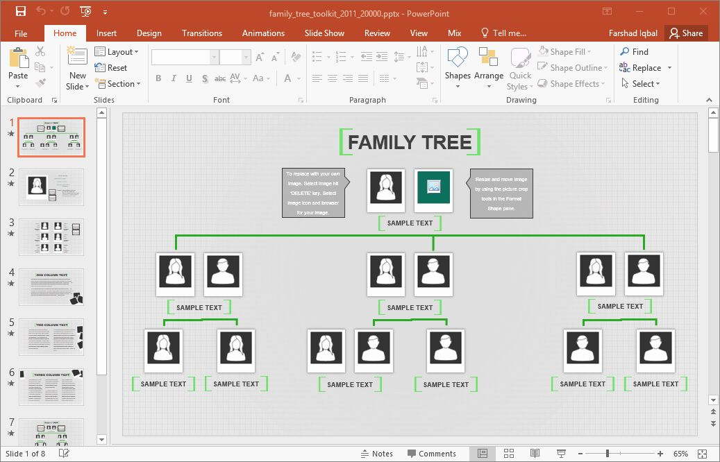 Pin On Family Tree Template Example