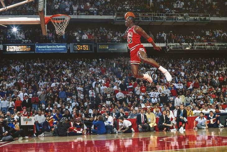 64f83097a2a799 Michael Jordan s dunk from the fee throw line....one of the best captured  moments in sports......ever!!