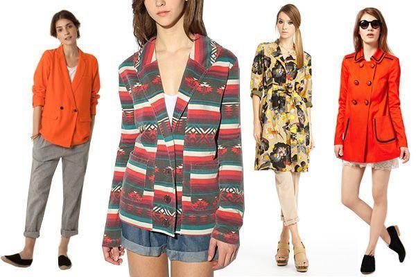 steven allan orange coat on left! eee. #steven allan, #coat