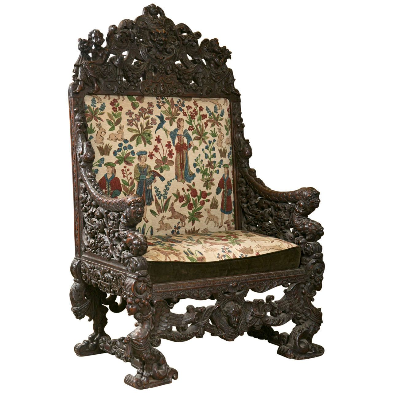 kings chair for sale covers chairs pin by mary and ed curry on unique pinterest throne antique oversized carved medieval from a collection of modern armchairs