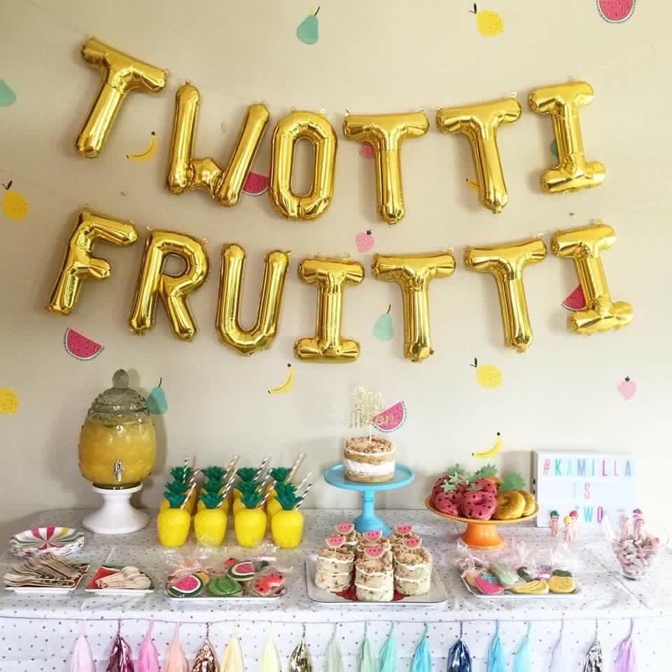 Twotti Fruiti Girl 2nd Birthday 2nd Birthday Parties Girls Birthday Party