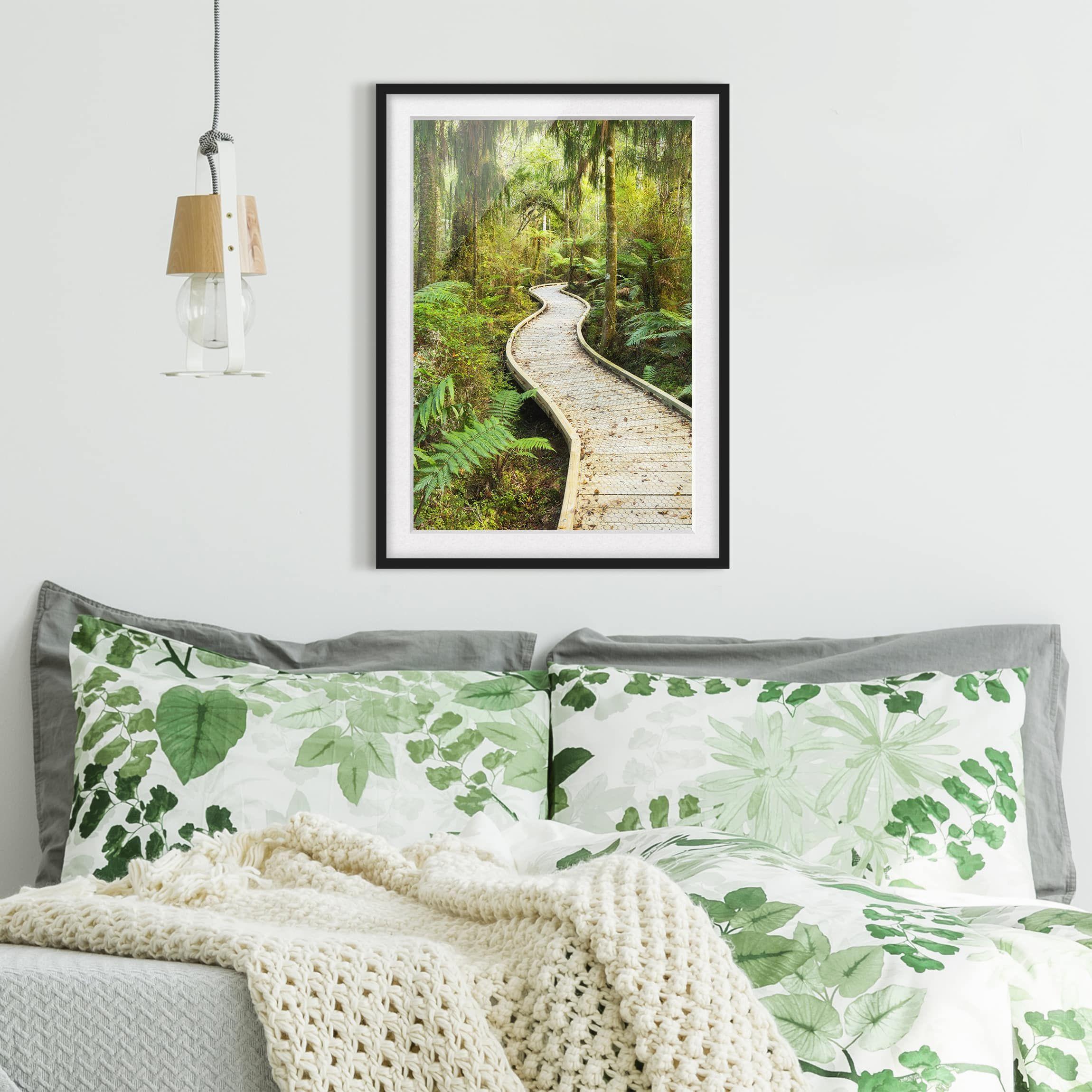 Poster con cornice Path In The Jungle Verticale 43