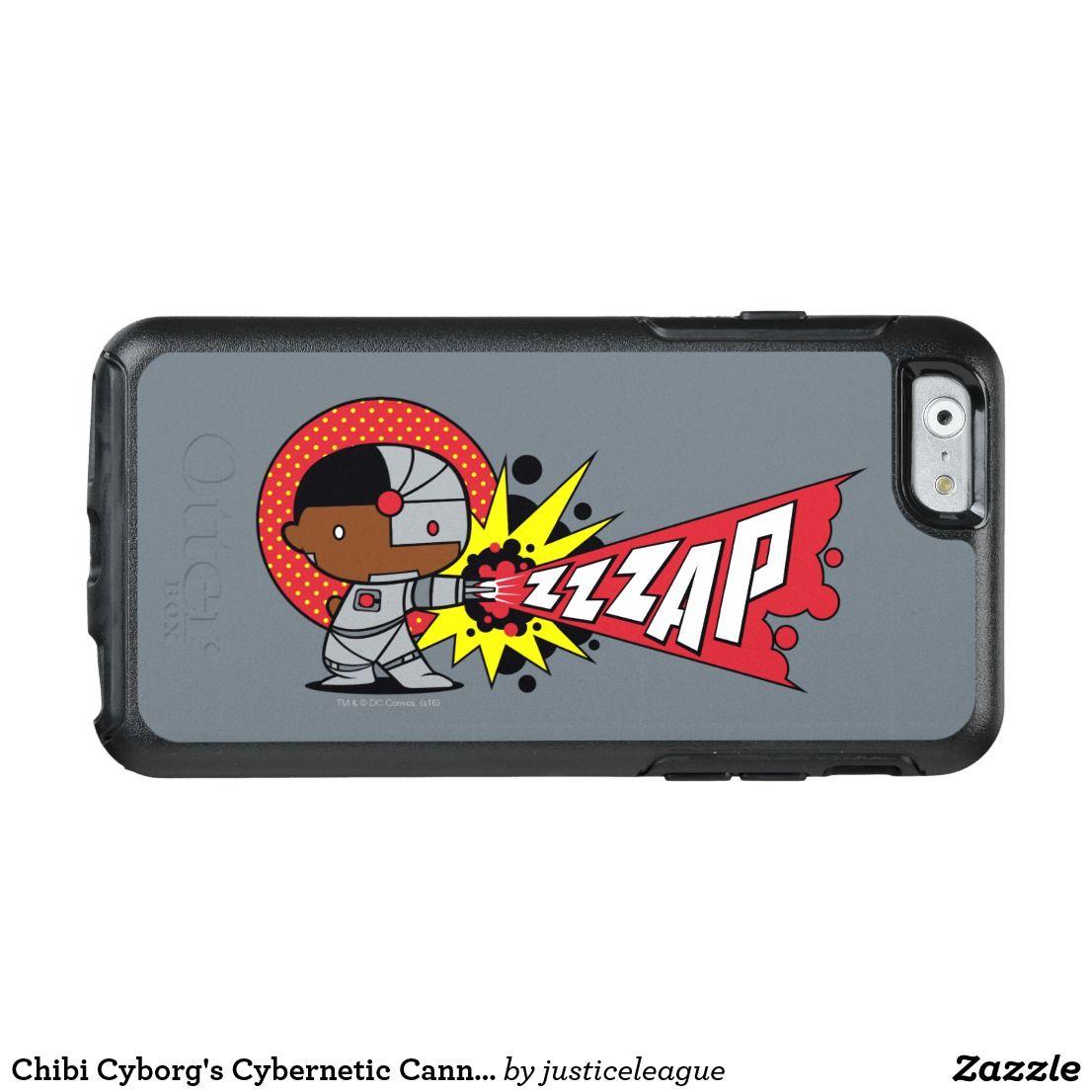 Chibi Cyborg S Cybernetic Cannon Otterbox Iphone Case Zazzle Com Iphone Cases Otterbox Otterbox Iphone Chibi