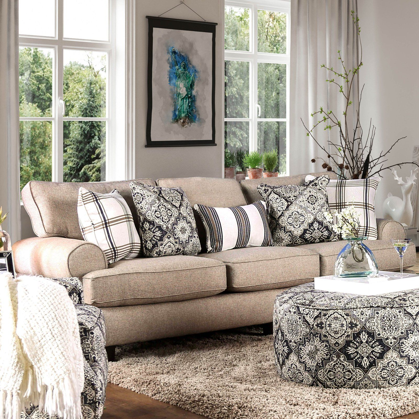 Peachy Furniture Of America Breckenridge Sofa In 2019 Products Gmtry Best Dining Table And Chair Ideas Images Gmtryco