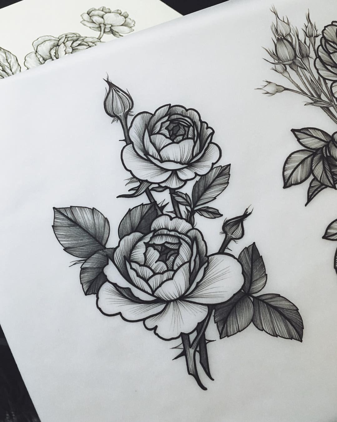 One More Night Drawing Sashamasiuk Sashatattooingsketch Sketch Flowers Sashatattooing Rose At Berlin Mit Tattoos Tattoo Sketches Body Art Tattoos