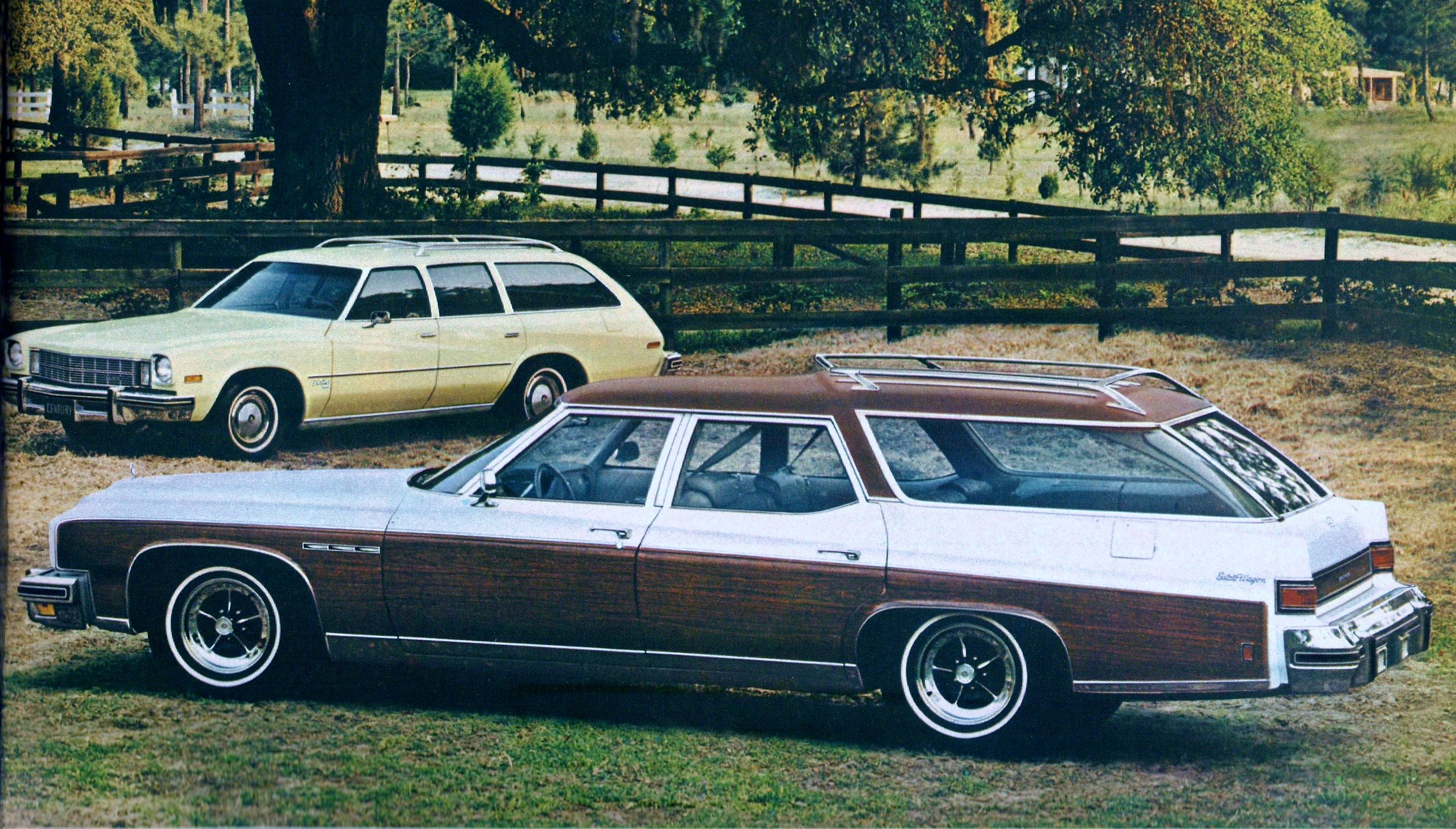1975 buick station wagons buick estate wagon in foreground buick 1971 76 full size pinterest station wagon buick and cars