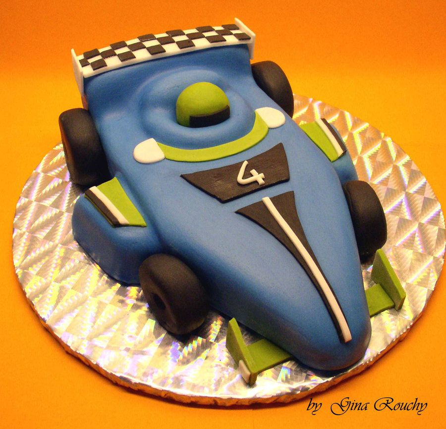 Cake Decorating Racing Car : Racing Car Cake by ginas-cakes on deviantART Car ?? Cake ...