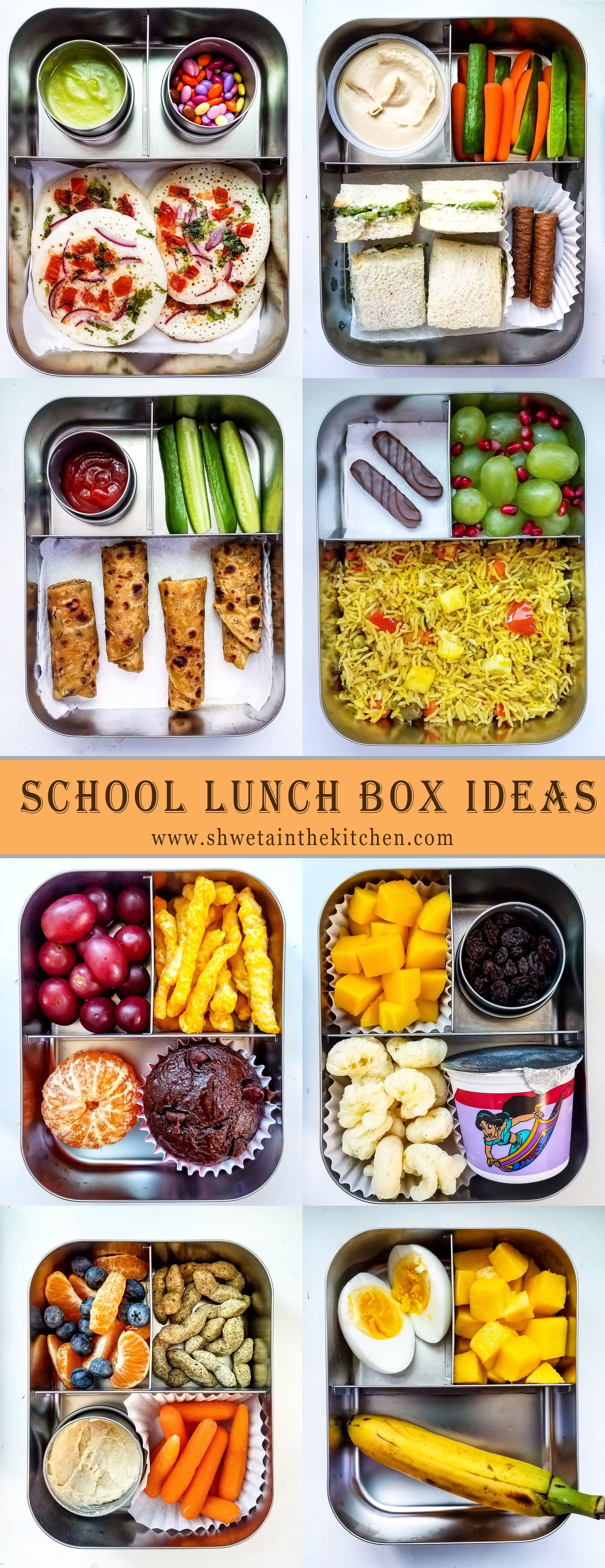 School Lunch Ideas for Kids #schoollunchideasforkids