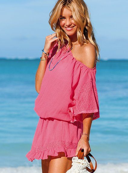 51fb742c21 Perfect Summer cover-up from Victoria's Secret. I especially love the  color!#TooFacedSummer