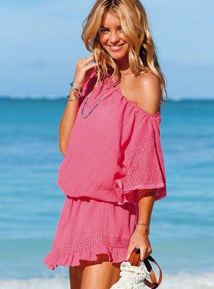 d8834cb126 Beach Sexy Cover-up Dress #VictoriasSecret http://www.victoriassecret.