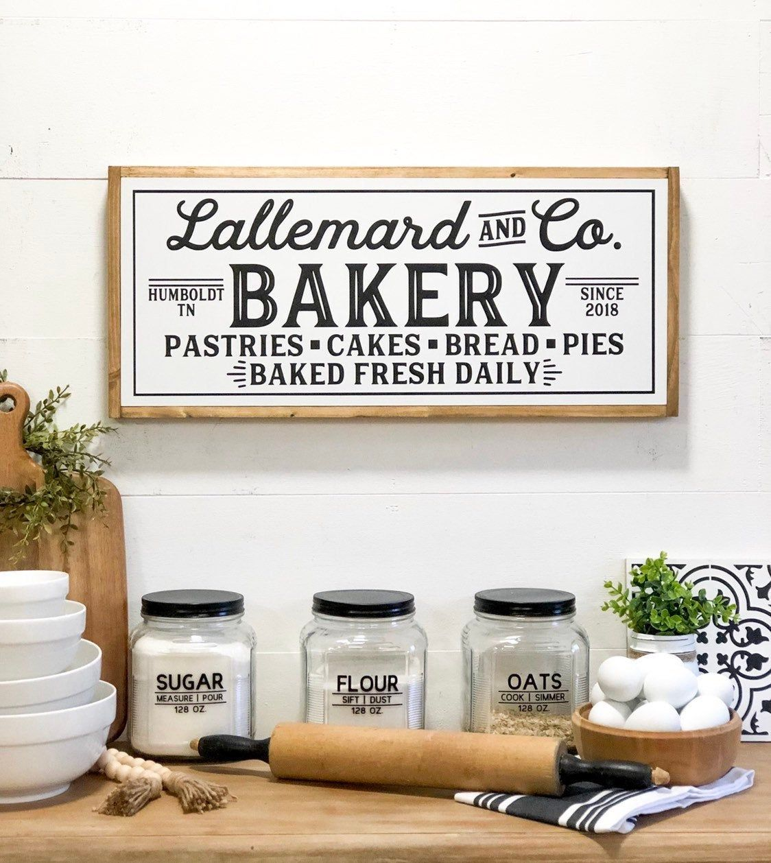 Bakery sign personalized kitchen sign custom kitchen