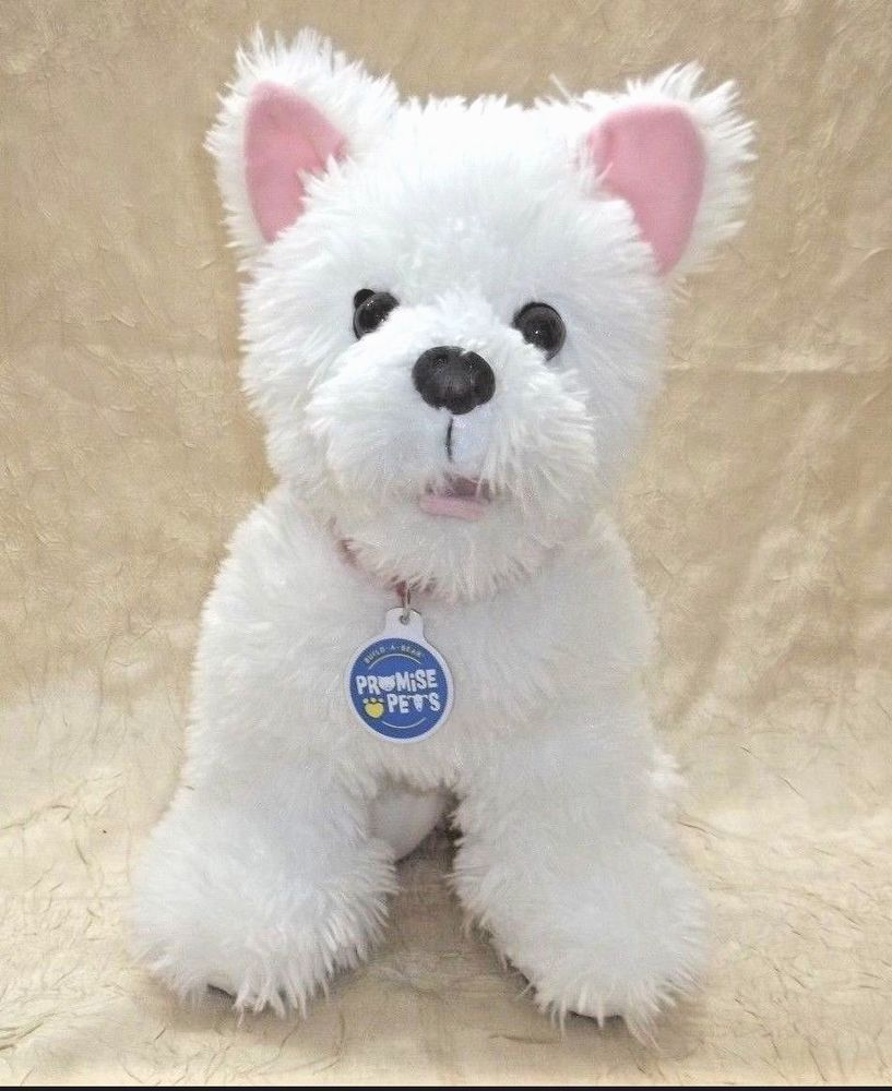 Build A Bear White Yorkie Westie Puppy Promise Pets BAB