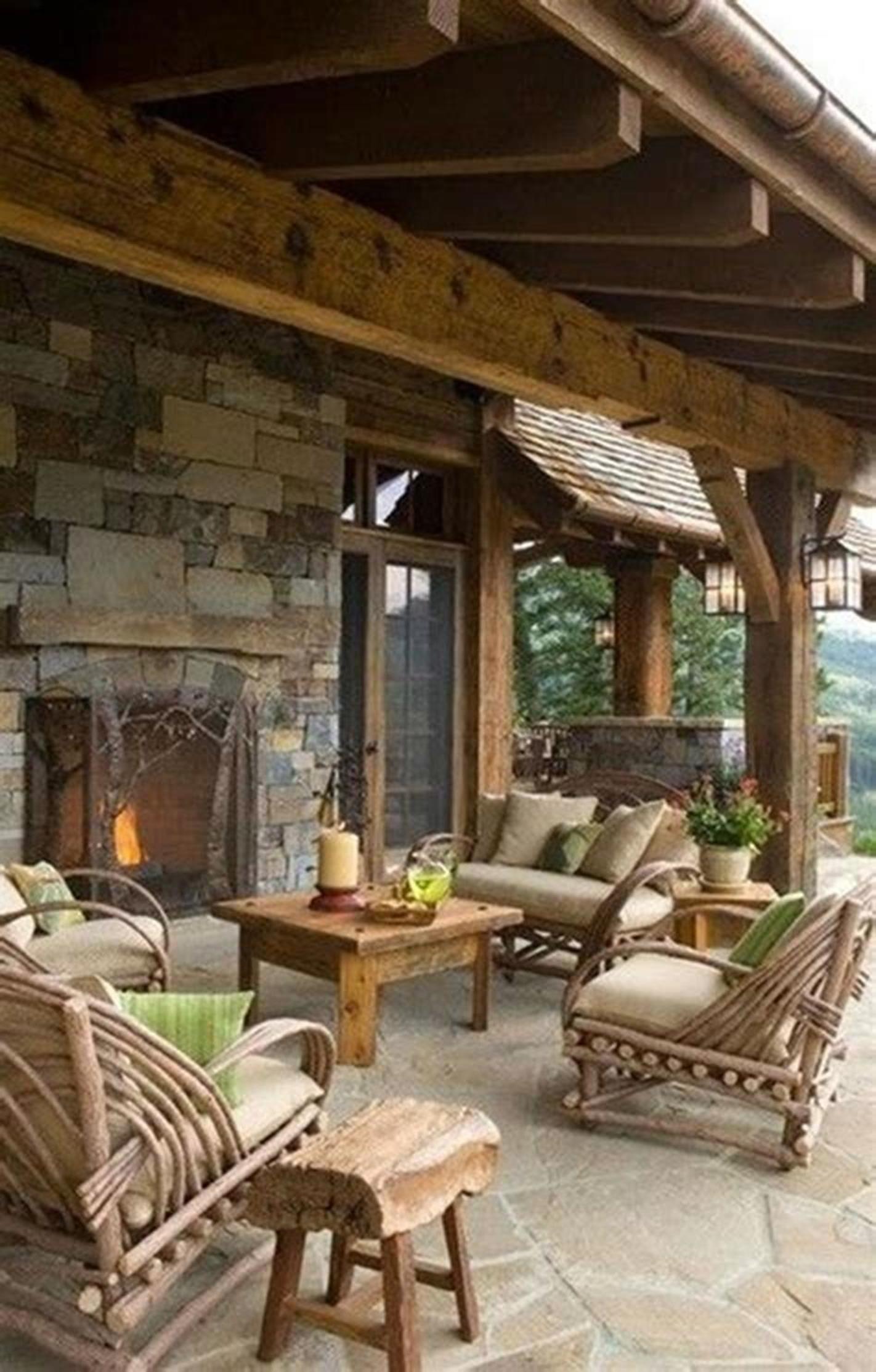 35 Best Rustic Porch Furniture Ideas You Will Love 33 in ...