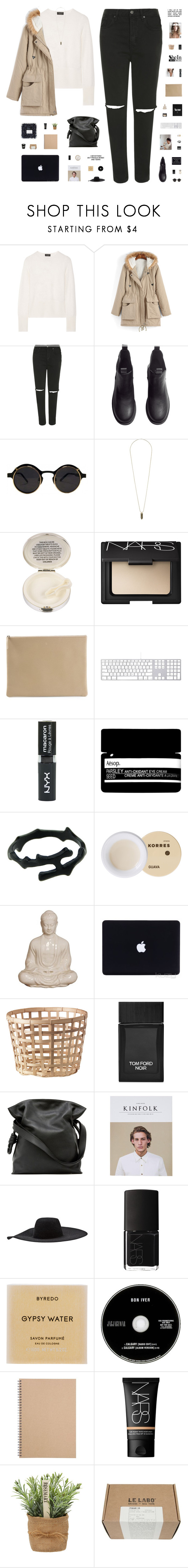 """""""BASE"""" by c-hristinep ❤ liked on Polyvore featuring rag & bone, Topshop, H&M, Lulu Guinness, NARS Cosmetics, Arts & Science, Aesop, Korres, Emissary and Tom Ford"""