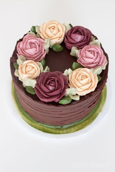 Misobakes Chocolate And Roses Buttercream Decorating Cake Decorating Cake Decorating Designs