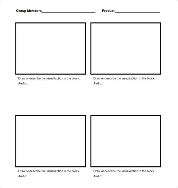Storyboard templates Produ o V deo Pinterest – Storyboard Sample in Word