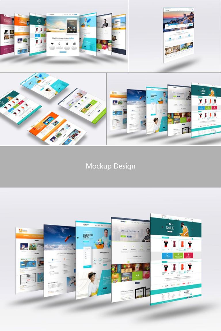 3d Website Mock Up 4 Mockup Mockup Design Mockup Photoshop