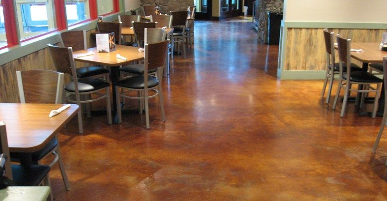 Dining Area Maybe Flooring In Bar Areas Accent Austin Grill Stained Floor Commercial Floors