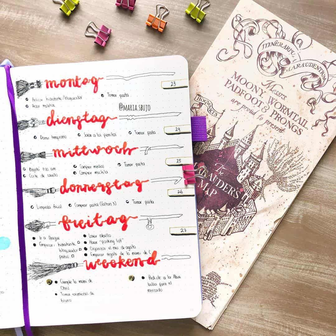Part 2 80 Magical Harry Potter Bullet Journal Layout Ideas My Inner Creative Bullet Journal Themes Bullet Journal Journal