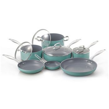 Fiesta 11pc. Ceramic Nonstick Aluminum Cookware Set