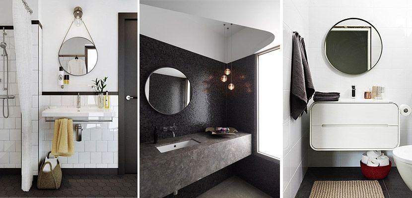 Espejos redondos para decorar el cuarto de ba o espejos for Decorar espejos de bano
