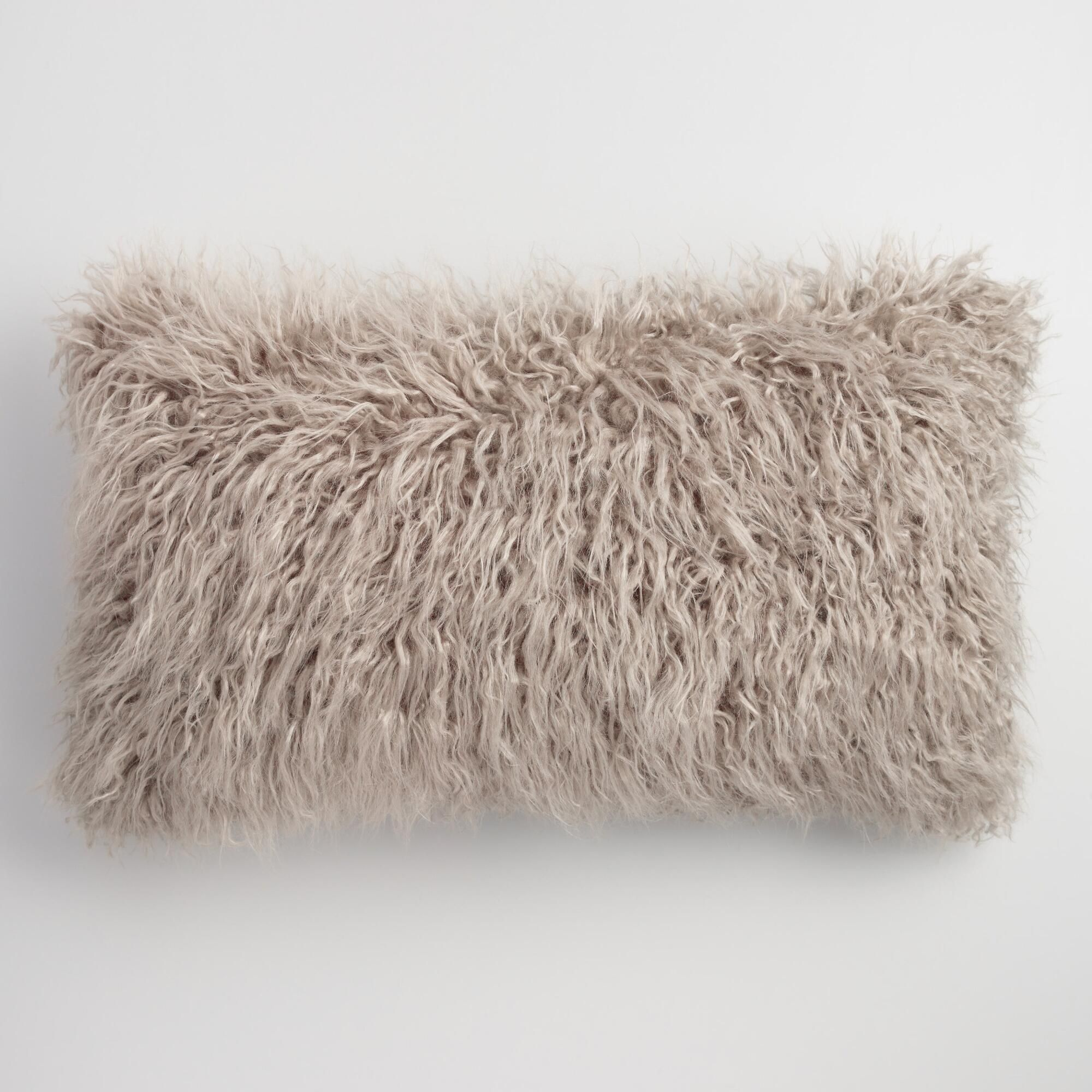 fur pillow throw gallery shipping pillows free lamb blanket faux filled cushion mongolian poly wool