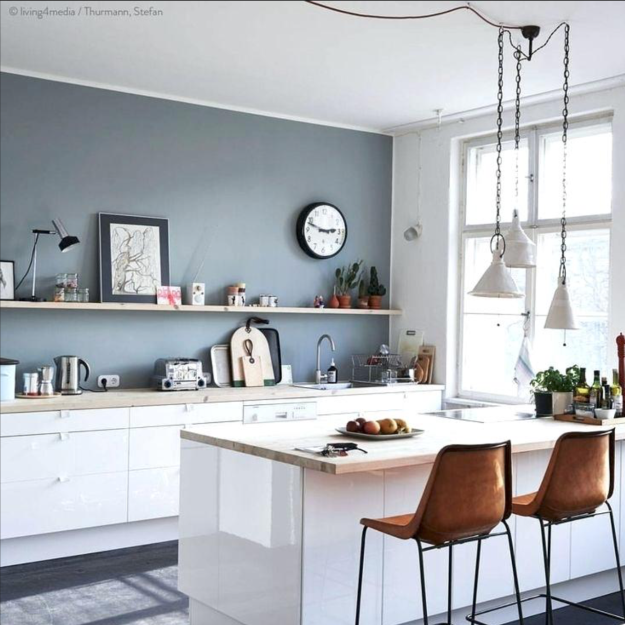 Best Blue Grey Paint Kitchen Remodel Small Kitchen Wall 400 x 300