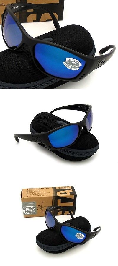 95fba397ed9 Sunglasses 151543  Costa Del Mar Fisch Blackout And Blue Mirror Glass 580  New 580G -